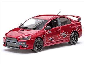 MITSUBISHI-LANCER-EVOLUTION-X-10-RALLIART-RED-1-43-MODEL-CAR-BY-VITESSE-29243