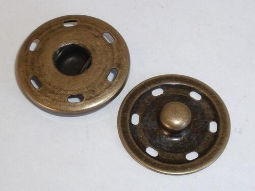 2 Pièces Grand Boutons-Pression Boutons Bouton-poussoir POUR RECOUDRE 30 mm altmessing NEUF
