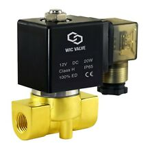 Electric Air Gas Water Zero Pressure Operate Solenoid Valve Nc 12v Dc 14 Inch