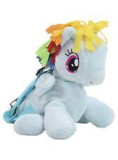 My Little Pony Rainbow Dash KIDS GIRLS SOFT PLUSH TRAVEL BACKPACK RUCKSACK BAG