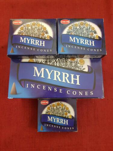 10 HEM Räucherkegel Myrrhe Myrrh mit Halter NEU//OVP Cones