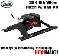 20k Curt Q20 5th Fifth Wheel Trailer Hitch With Universal Rails 16131