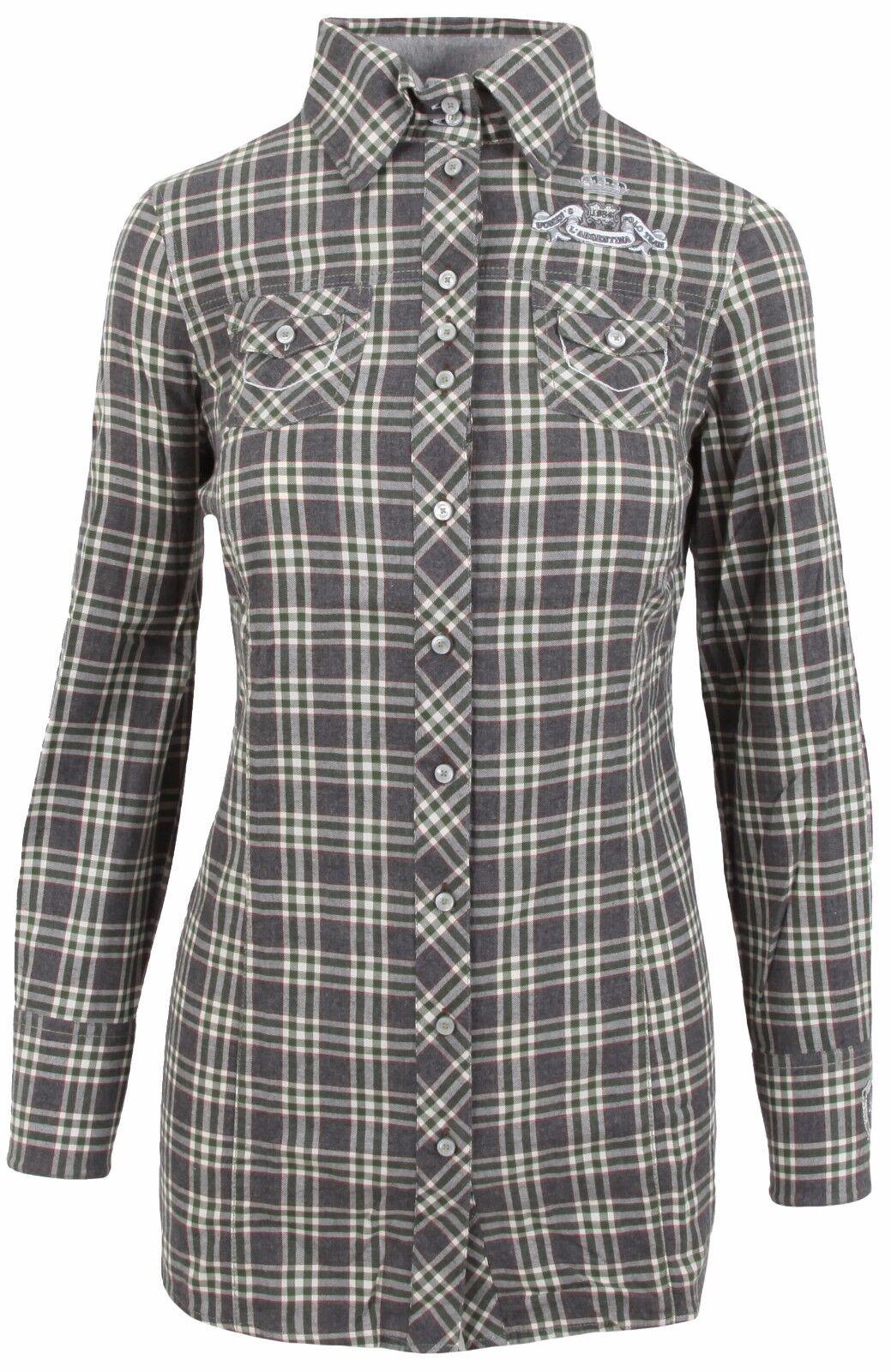 6a7b0be64c415c L' SilberINA Damen Long Blause LongBlause Shirt Größe 38 M 100% Baumwolle  Kariert