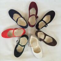 Samtschuhe Chinaschuhe  Ballerinas (Schuhgrößen 35-42)