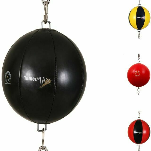 TurnerMAX Quality Rexion Double End Ball Punching Bag With Elasticated Strap