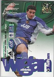 WIGAN-ATHLETIC-V-FULHAM-2ND-DIVISION-20-10-98