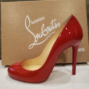 ed79e4b61ad4 Image is loading Christian-Louboutin-FIFILLE-100-Patent-Heel-Pump-Shoes-