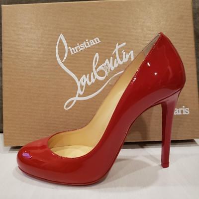 6e2c538c799 Christian Louboutin FIFILLE 100 Patent Heel Pump Shoes Flamenco Red $695 |  eBay