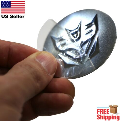 "DOME SHAPE 3D Metal Decepticons Transformers Auto Sticker Decal Emblem 2.20/"""