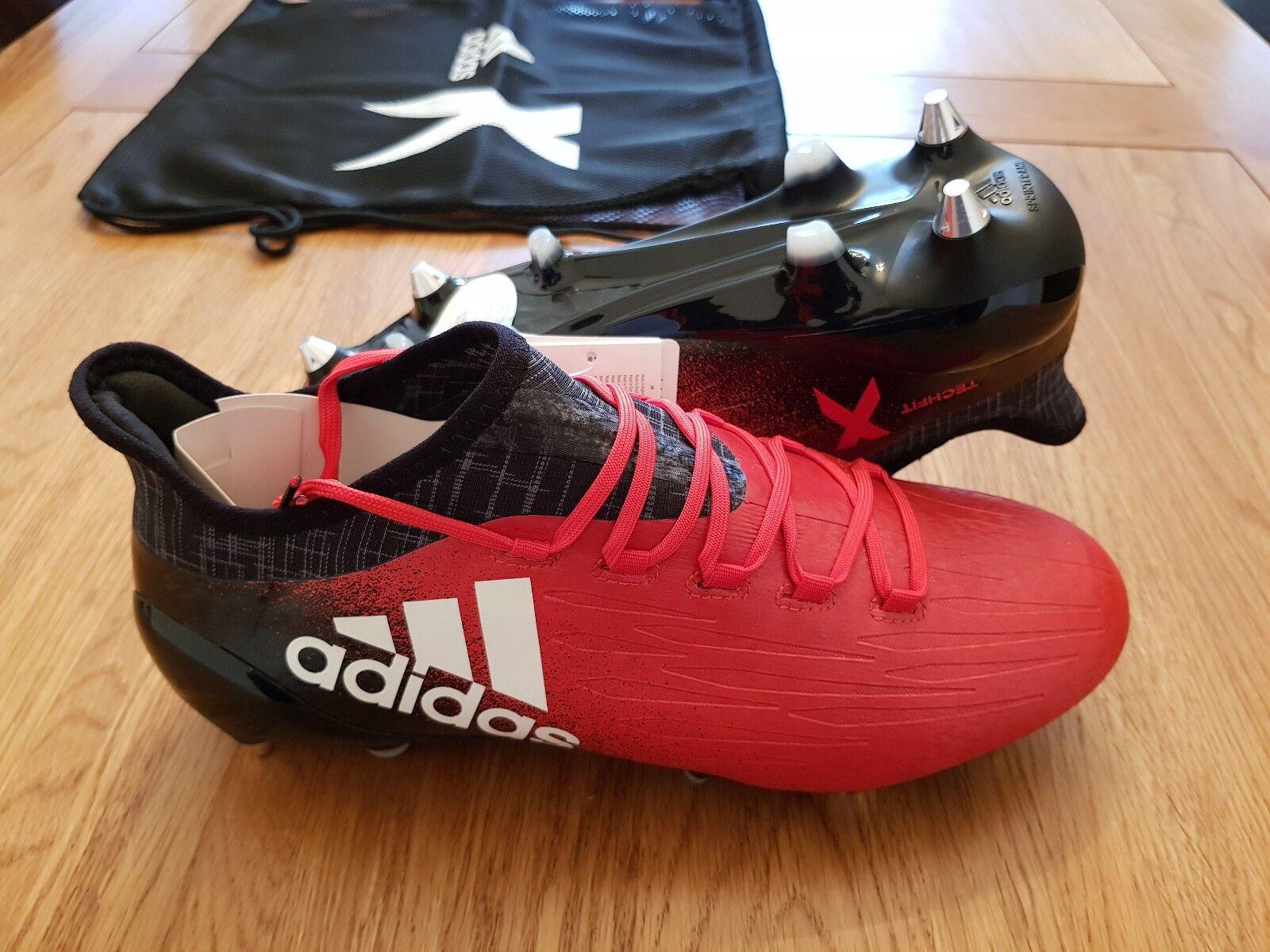 Adidas x 16.1 Terreno Morbido Stivali Sg Xtrx Nuovo Taglia 7 Rosso Nero