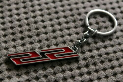 Metal Red SS Logo Keychain For CHEVY Chevrolet Camaro SS ZL1 LT