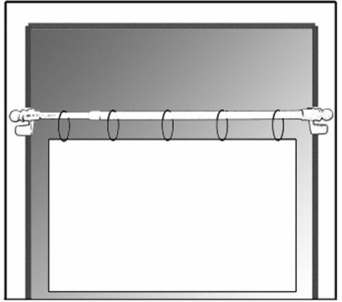 CG Klemmstange easy  Scheibenstange Gardinenstange ohne bohren Klemmfix Fenster
