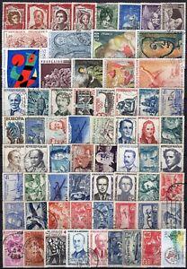 Francia-Lotto-di-66-francobolli-Usati