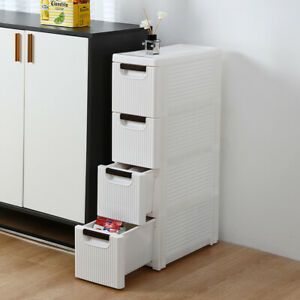 4 Drawers Free Standing Cabinet, Bathroom Floor Cabinet Storage Organizer With 4 Drawers Free Standing