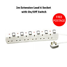 6 Socket Extension with On//Off Switch Lead Home Office DIY Electrical Tool