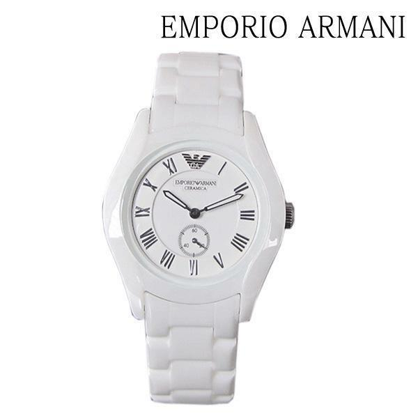 New Emporio Armani Women's AR1405 Ceramic Analog with Ceramic Bezel Watch $445