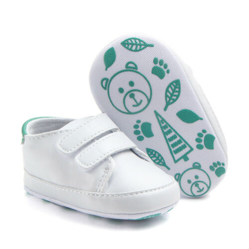 Gift for Newborn Toddler Baby Boy Girl Soft Leather Sole Crib Shoes Sneakers Set