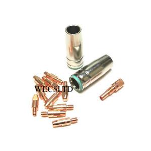 10 MIG TIPS 1.2MM X2 NOZZLE+ADAPT SIP DRAPER CLARKE PARWELD etc COMPATABLE