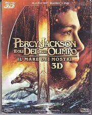 Blu-ray 3D + Blu-ray 2D + Dvd «PERCY JACKSON ♦ IL MARE DEI MOSTRI» nuovo 2013