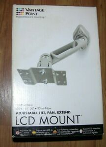 New Vantage Point LCD Tilt & Pan Mount  Adjustable Tension Pivot Points
