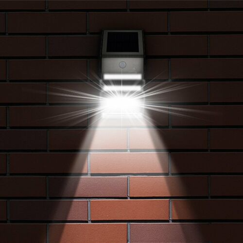 4 Pack Solar Powered LED Wall Light Motion Sensor Security Lamp Outside DD