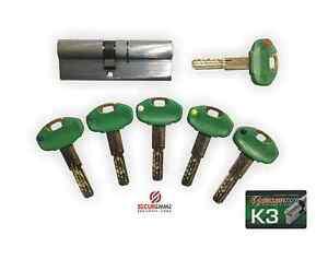 Cilindro europeo securemme k3 5 chiavi chiave da for Estrarre chiave rotta da cilindro