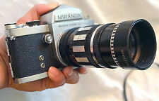 Vintage Miranda Manual Focus 35mm SLR Film Camera with Spiratone 105mm Lens