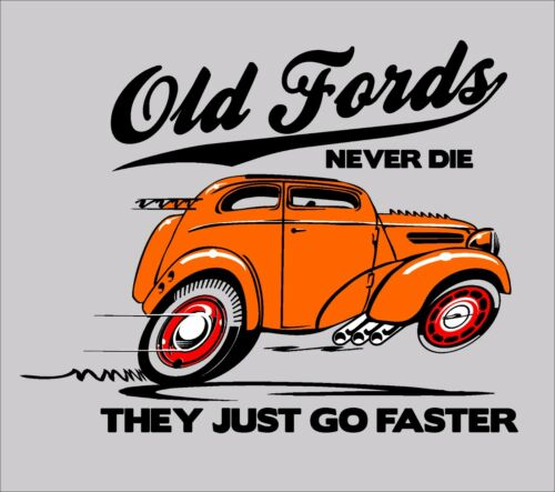 Vintage sit up /& beg ford pop anglia fordson hot rod classic sweat à capuche pull