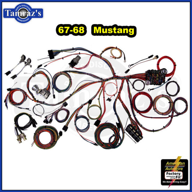 Prime American Autowire 510055 Mustang Complete Wiring Kit 1967 1968 For Wiring Digital Resources Jebrpcompassionincorg