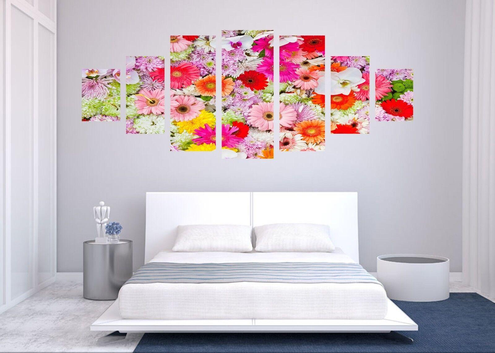 Flores de Color de 3D 68 impresión sin enmarcar Papel de Parojo Calcomanía Decoración De Parojo Parojo Interior AJ