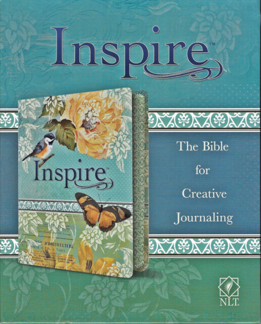 NEW Inspire Bible Journaling and Coloring New Living Translation NLT Blue Cream