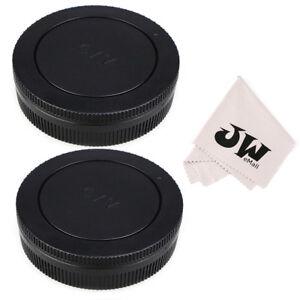 JJC-2-Pack-Body-Cap-Rear-Lens-Cap-for-Canon-EOS-M-EF-M-Mount-Lens-Camera