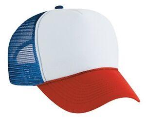 Dustin-from-STRANGER-THINGS-Red-White-amp-Blue-HAT-Trucker-Cap-80s-ADJUSTABLE