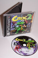 Vintage Croc 2 Playstation Video Game with Instructions - PS1 - One -