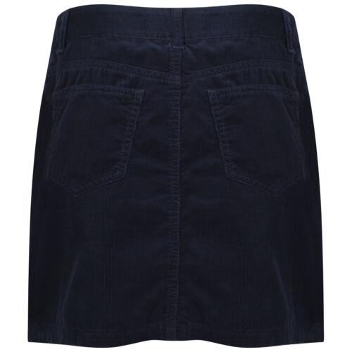 DeMIna Navy Corduroy Cord Western Mini Skirt 8-18 Lula