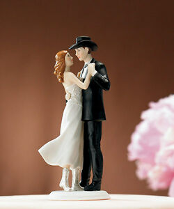 A Sweet Western Embrace Romantic Country Cowboy Wedding Cake Topper