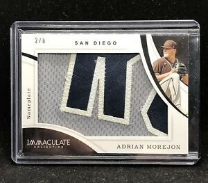 🔥🔥ADRIAN MOREJON 2020 IMMACULATE NAMEPLATE  2/8 SAN DIEGO PADRES