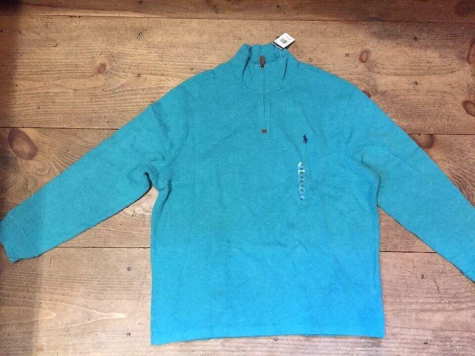 Polo Ralph Lauren  Herren 1/4 Zip Sweater - 98 - Größe Grün XXL NWT