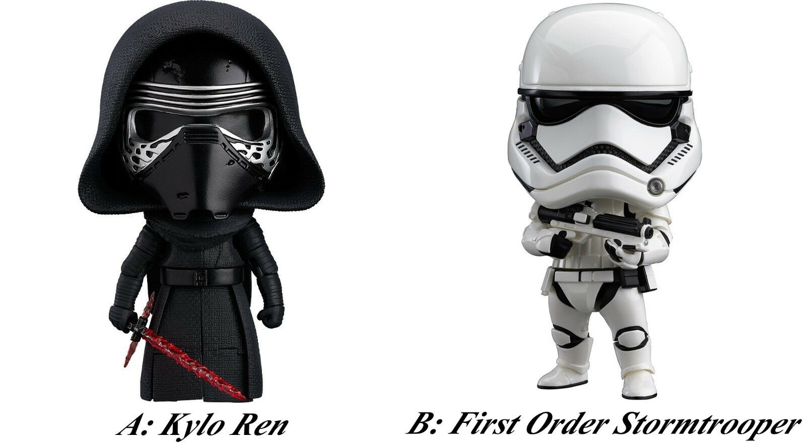 Nendgoldid Star Wars Kylo Ren First Order Stormtrooper actionfigure Force Awakens