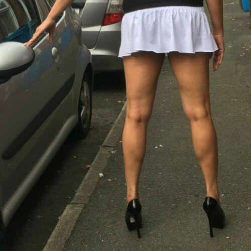 Blanc Micro Mini Jupe femme courte taille haute Strechy Femmes Court circulaire