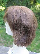 100% Human Hair Light Brown Women's Wig Size M
