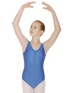 Girls-Sleeveless-Ballet-Leotard-Modern-Dance-Costume-Shiny-Nylon-Lycra-Childrens