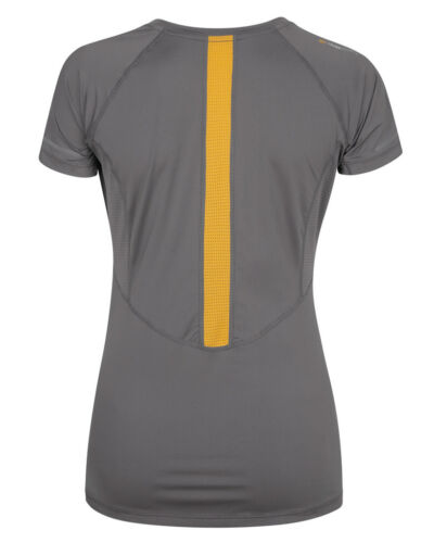Tribesports Womens Short Sleeve Running Top Charcoal