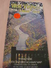 West Virginia Map 1994-1996 Official State Highway Map Made in USA Good Cond