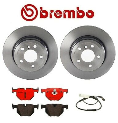 OEM Brembo P06033N BMW X5 xDrive 30i Rear Ceramic Brake Pad Set w// Sensors