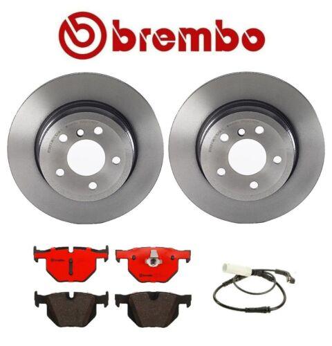 Ceramic Brake Pads Rear Rotors Set of 2 Sensor For BMW X5 xDrive30i Brembo