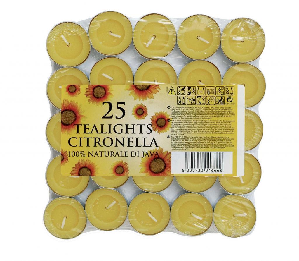 500 Preise Zitronengras Teelicht Kerzen Moskito Fliegen Insekt Abwehr 20 x 25