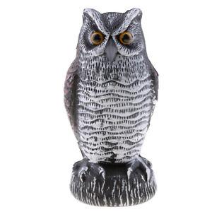 Details about Outdoor Bird Scarecrow Fake Horned Owl Decoy Bird Repellent  Garden Protector