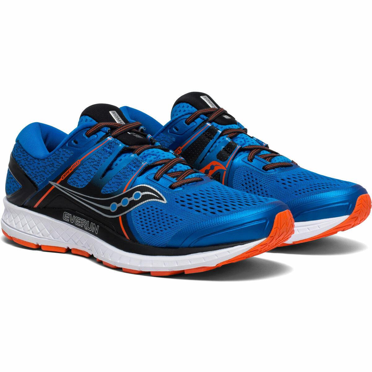 Saucony Omni ISO Men zapatillas azul naranja   ss20442-36 con everun topsole