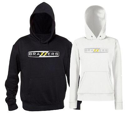 Informazioni sullimpostazione bruciatura triplo  Brazzers Felpa con Cappuccio Adult Divertente Uomo Donna Tributo Replica  Logo | eBay